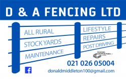 D & A Fencing Limited